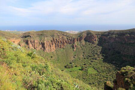 spanish landscapes: Caldera de Bandama - volcanic landscape of Gran Canaria, Spain.