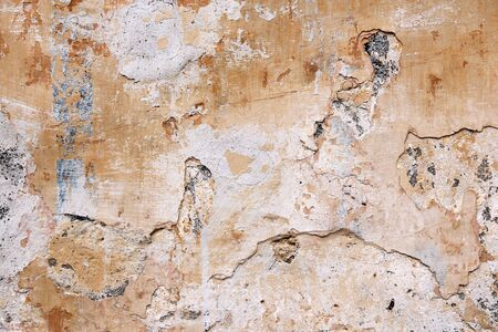 urban decline: Grunge concrete background - urban decay texture with peeling paint.