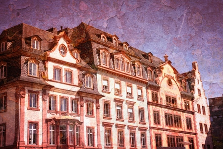 MAINZ: Mainz, Germany - vintage textured style. Old Town.
