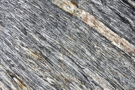 metamorphic: Schist rock - medium-grade metamorphic rock in New Zealands Southern Alps.