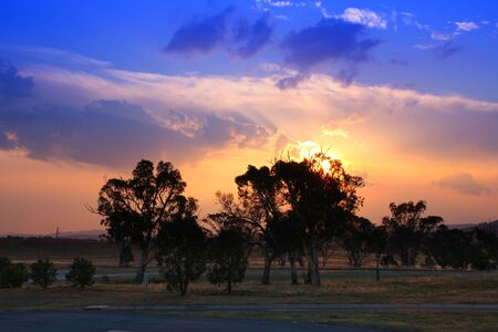 skyscapes: Australia sunset - beautiful evening sky near Canberra.