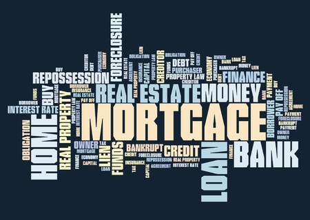 financing: Mortgage word collage - real estate loan financing.