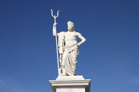neptuno: Neptune statue - monument in Havana, capital city of Cuba.