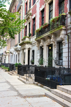 brownstone: Upper West Side brownstone - New York residential architecture.