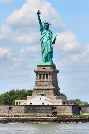 Statue of Liberty in New York City, United States.