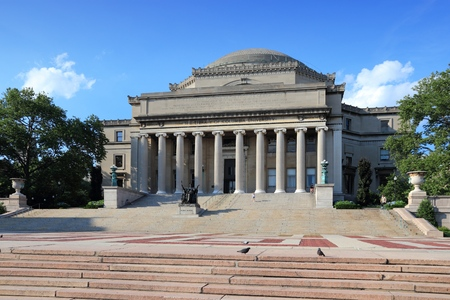 Columbia University library in New York City, USA.