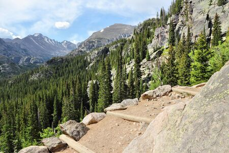 rocky mountain national park: Rocky Mountain National Park in Colorado, USA. Hiking trail path.