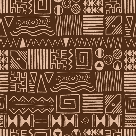 indigenous: African ethnic pattern - indigenous art background. Africa style design.