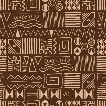 aboriginal art: African ethnic pattern - indigenous art background. Africa style design.