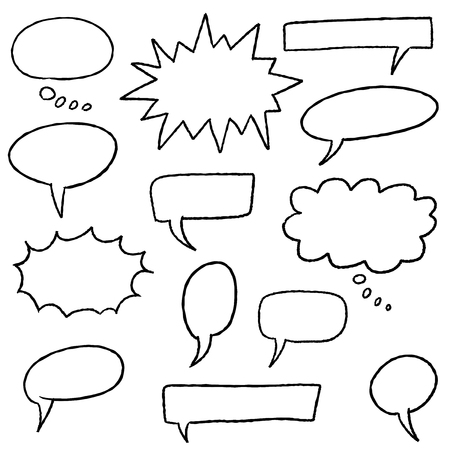 Blank speech bubbles - cartoon style illustration set. Ilustrace
