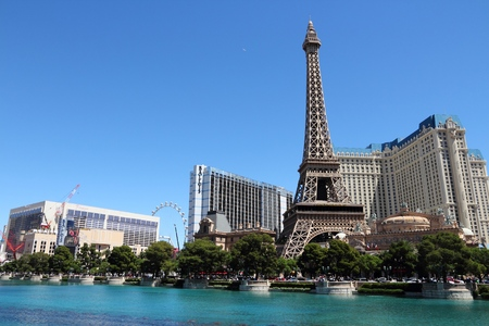 las vegas casino: LAS VEGAS, USA - APRIL 14, 2014: People visit Paris Las Vegas casino hotel in Las Vegas. The hotel is among 30 largest hotels in the world with 2,916 rooms. Editorial