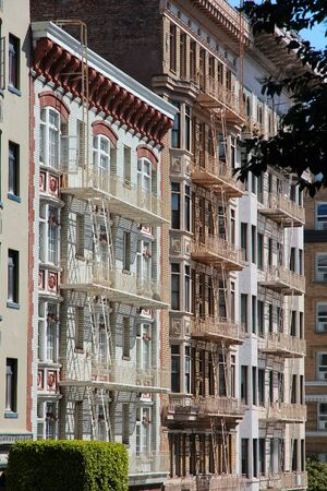 nob hill: San Francisco, California, United States - beautiful old architecture in Nob Hill area.