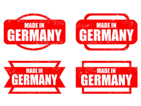 made in germany: Made in Germany - grunge vector stamp isolated. Illustration
