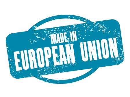 european union: Made in European Union - grunge vector stamp isolated. Illustration