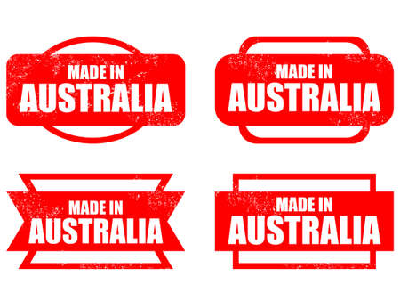 australia stamp: Made in Australia - grunge vector stamp isolated.