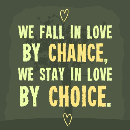 falling in love: Falling in love. Inspiration poster with motivational quote.
