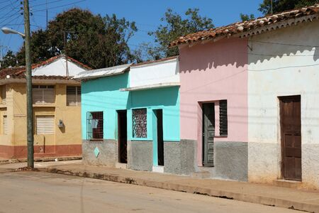 residential street: Remedios in Cuba - typical residential street architecture.
