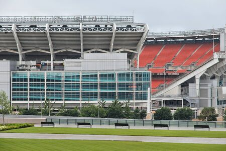 nfl: CLEVELAND, USA - JUNE 29, 2013: FirstEnergy Stadium exterior view in Cleveland. It is home of NFL team Cleveland Browns. Editorial