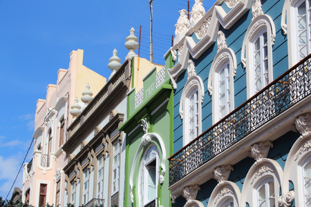 las palmas: Las Palmas, Gran Canaria - colorful old architecture at Triana street. Stock Photo