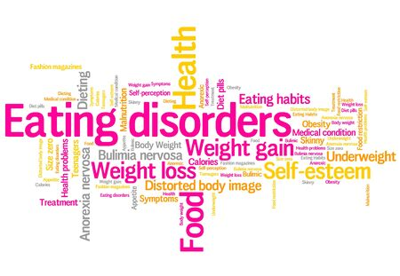 self esteem: Eating distorder concepts word cloud illustration. Word collage concept.