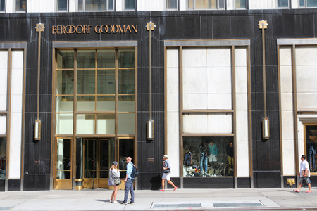 5th: NEW YORK, USA - JULY 2, 2013: Bergdorf Goodman department store in 5th Avenue, New York. Bergdorf Goodman is a luxury department store founded in 1899. Editorial
