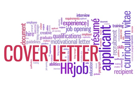 job opening: Cover letter - employee qualifications concept. Employment word cloud.