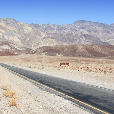 Artist Drive, Death Valley National Park in California. Stock Photo