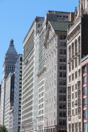 michigan avenue: Chicago - Michigan Avenue architecture. City in United States. Stock Photo