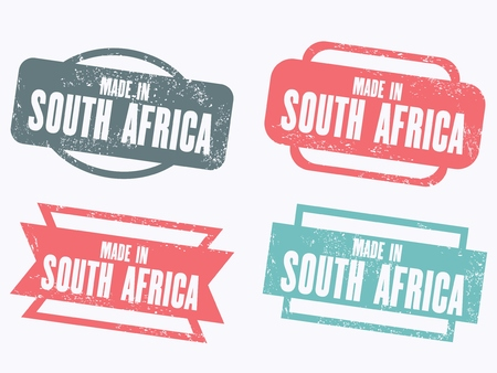 Made in South Africa - grunge vector stamp isolated.