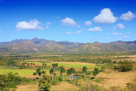 sugar land: Sugar Mill Valley in Trinidad, Cuba.