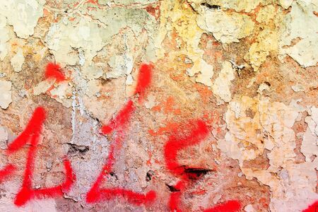urban decline: Texture of old dirty urban wall. City decay background.