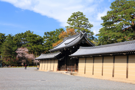 old architecture: Imperial Palace in Kyoto, Japan. Old architecture. Editorial