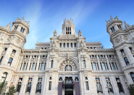 cibeles: Cibeles Palace in Madrid, Spain. The City Hall in Cibeles square.