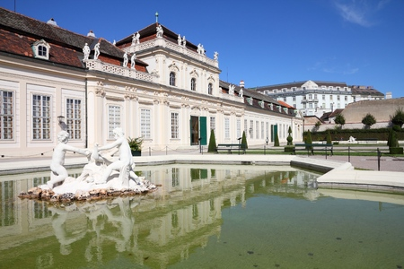 unesco: Lower Belvedere building in Vienna, Austria. The Old Town is a UNESCO World Heritage Site. Editorial