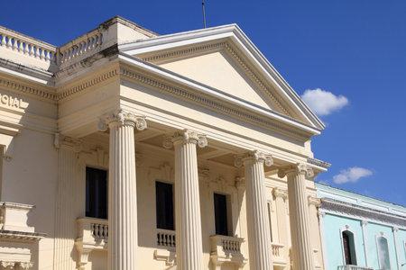 neoclassical: Neoclassical architecture in Santa Clara, Cuba. Jose Marti library. Editorial
