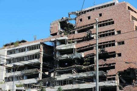 serbia: Serbia war damage Stock Photo