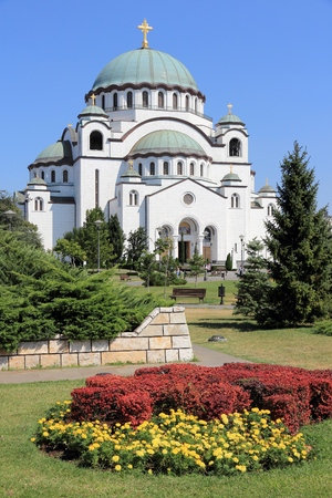 serbia: Cathedral of Saint Sava in Belgrade, Serbia.