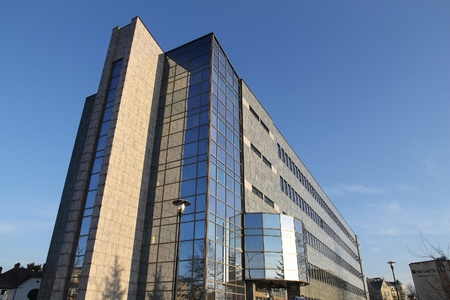 faculty: SOSNOWIEC, POLAND - MARCH 9, 2015: Faculty of Computer Science at University of Silesia in Sosnowiec. As of 2015 University of Silesia has more than 32 thousand students. Editorial