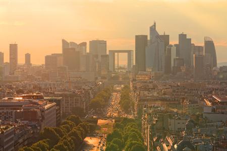 la defense: Skyline of La Defense - modern skyscraper district in Paris, France.