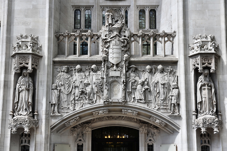 middlesex: London, United Kingdom - Middlesex Guildhall, home of the Court of the United Kingdom.