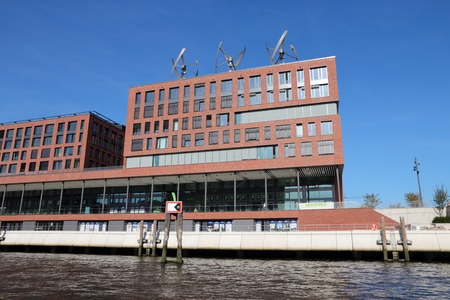 greenpeace: HAMBURG, GERMANY - AUGUST 28, 2014: Greenpeace office building in Hamburg. Greenpeace is a non-governmental environmental organization with 15,000 volunteers.