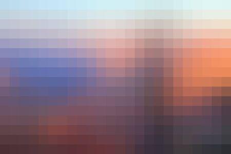 Orange pixel pattern - sunset colors pixels background.