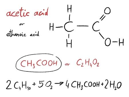scribbling: Acetic acid (ethanoic acid) - organic chemistry lesson.