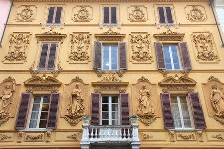 massa: Massa - town in Tuscany, Italy. Ornate architecture.