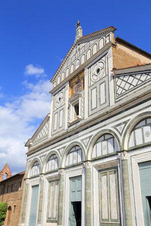 Florence - Basilique San Miniato al Monte. Architecture romane de la vieille ville en Toscane, Italie.