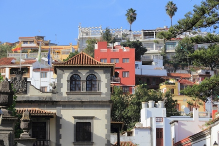 Teror, Gran Canaria - colorful Spanish town view.