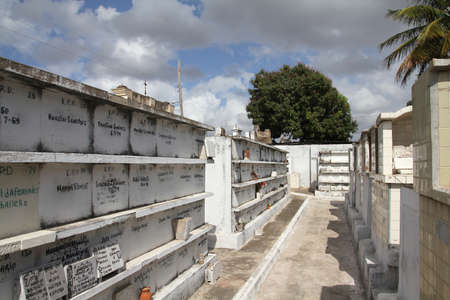 cremated: CAMAGUEY, CUBA - FEBRUARY 17, 2011: Cemetery in Camaguey, Cuba. As of 2011, 20 percent of Cuban deceased were cremated. Editorial