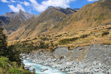 aspiring: New Zealand - landscape in Mount Aspiring National Park