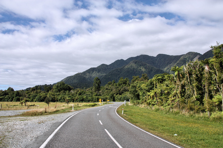 australasia: West Coast road, New Zealand. Westland National Park. Stock Photo