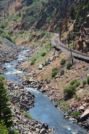 colorado river: Colorado, United States. Colorado River railway line.